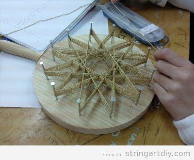 Tutorial Star String Art for Christmas, step 6