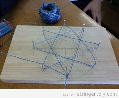Tutorial Star String Art for Christmas, step 4