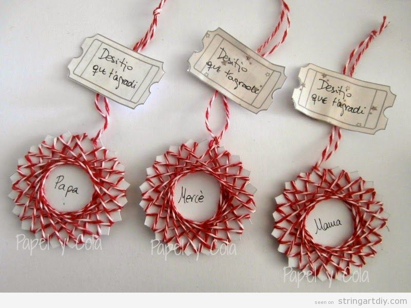 String Art tags for Christmas gifts