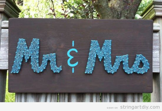 Mr and Mrs String Art, wedding decoration
