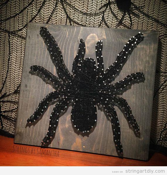 Spider String Art DIY