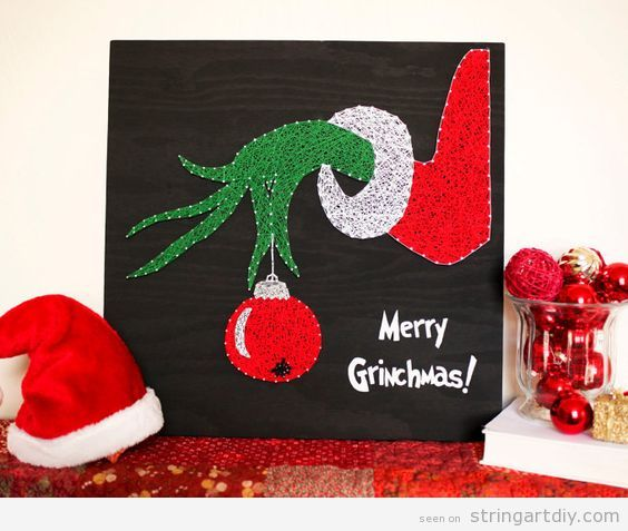 String Art DIY Christmas, Grinch