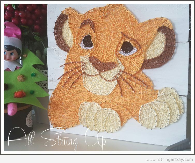 Baby Simba String Art