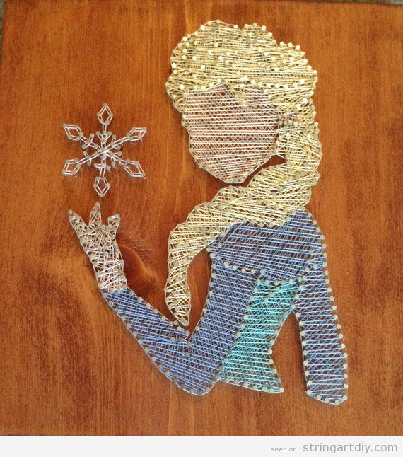 Elsa from Frozen String Art DIY