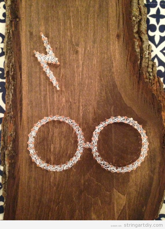 Harry Potter Glasses String Art DIY