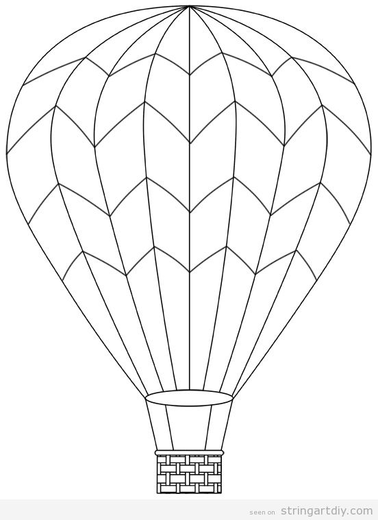 Hot air balloon free and printable template 2