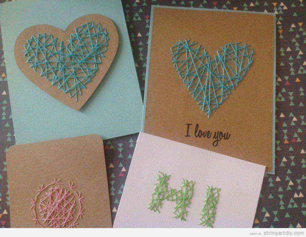 Mother's Day String Art card