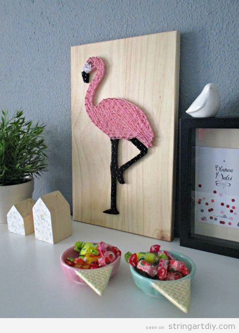Flamingo String Art 3