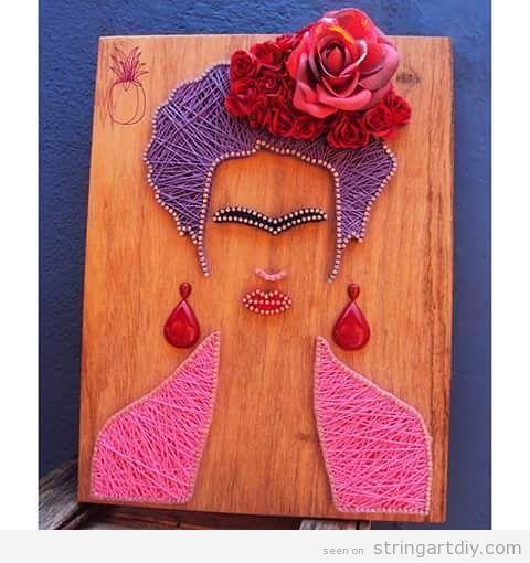 Frida Kahlo String Art