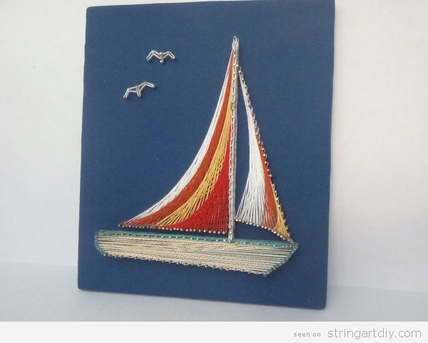Boat String Art 3