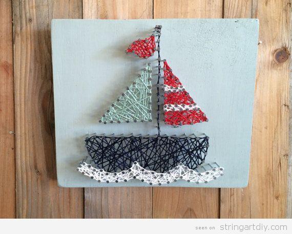 Boat String Art Nursery