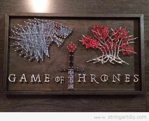 Game of Thrones String Art, House Stark 3