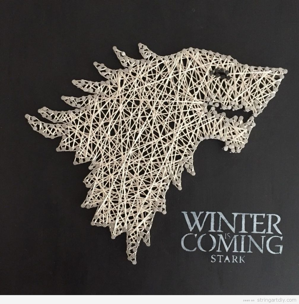 Game of Thrones String Art, house Stark 1