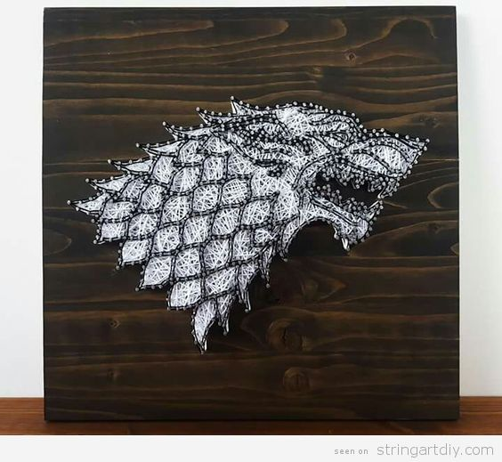 Game of Thrones String Art, house Stark 2