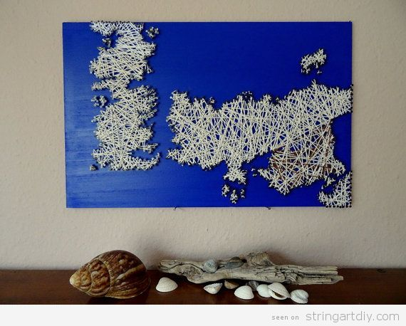 Game of Thrones String Art, Westeros Map