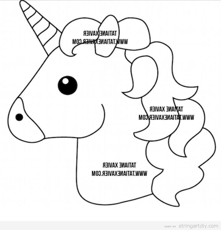 Vibrant image with regard to printable unicorn template