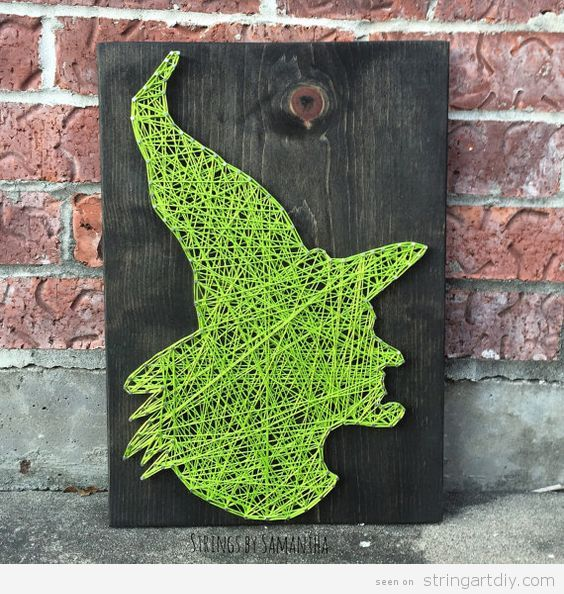 Witch of Oz String Art