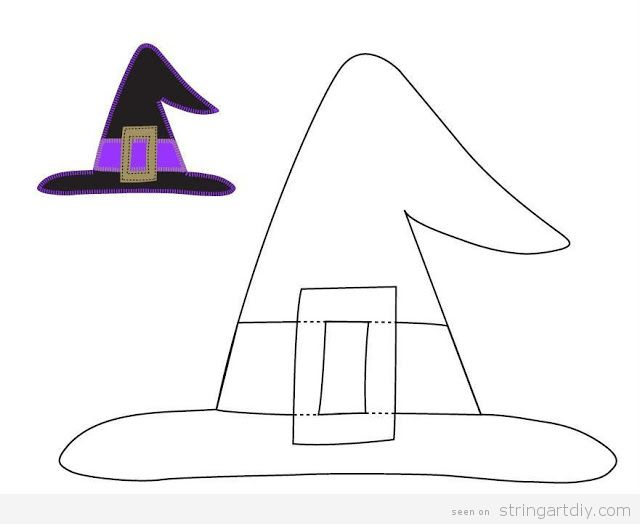 Witch Hat free template