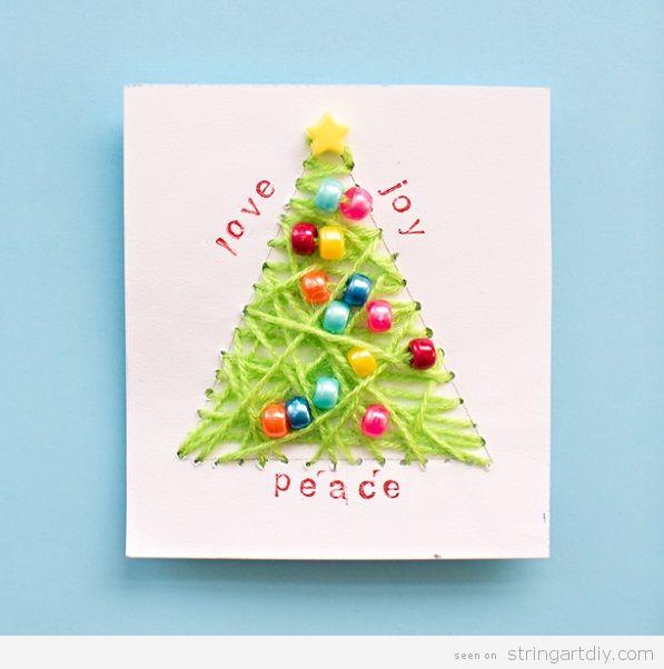 6 Wonderful String Art Christmas Card String Art Diystring Art Diy
