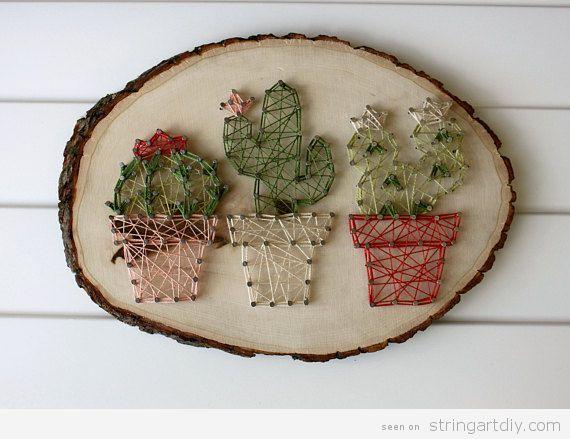 Small Cactus String Art Ideas