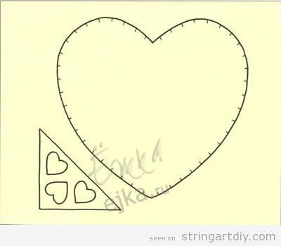 Pattern Heart String Art Card