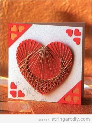Heart Shaped String Art Card Tutorial