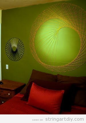 String Wall Art to decorate a bedroom