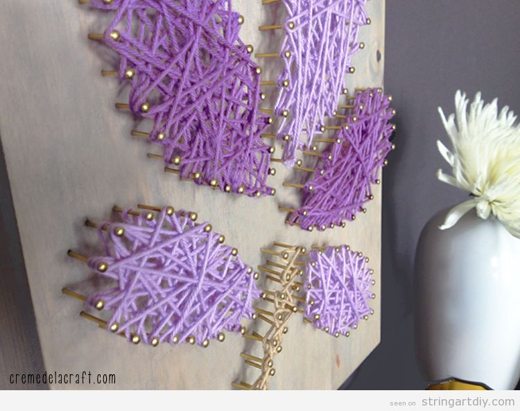 DIY Project Idea, Wall String Art with a simple flower