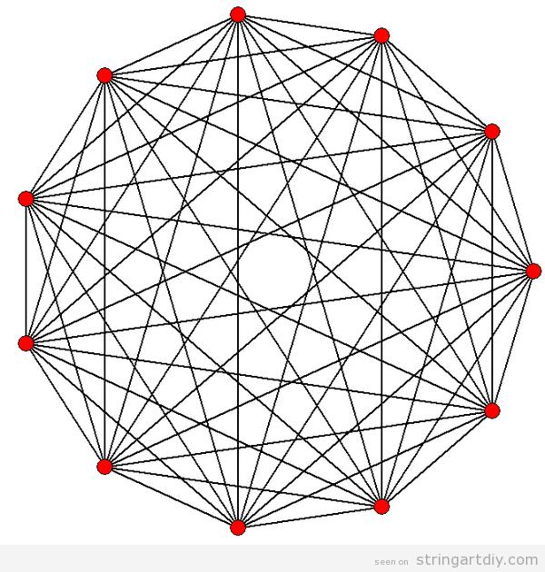 Hendecagon  String Art, free pattern to download