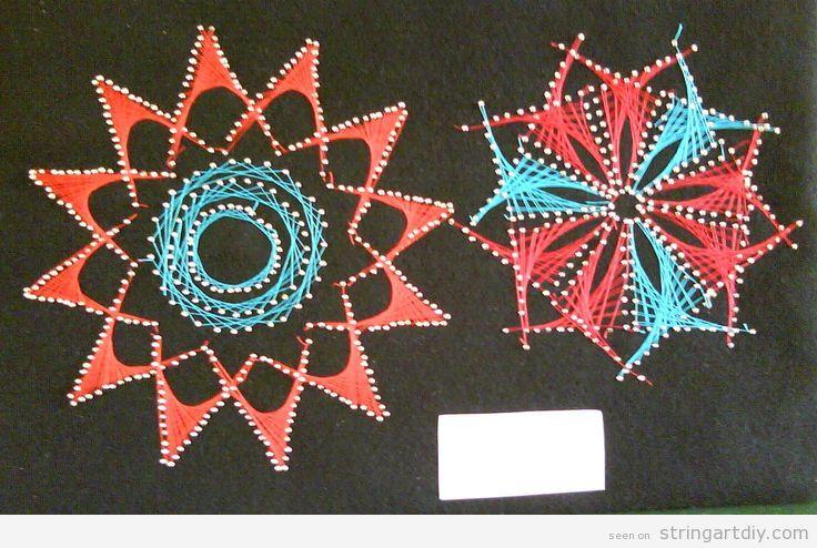 Flower String Art DIY