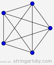 String Art free pattern, pentagon