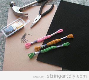 String Art Tutorial, step 1