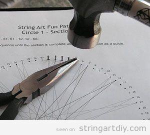 String Art Tutorial, step 2