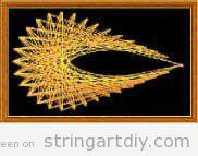 Teardrop String art