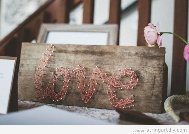 String Art word Love