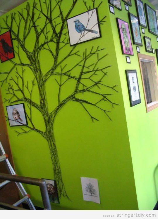 Tree shaped String Art wall decoration