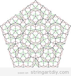 String Art Free Pattern pentagone shaped