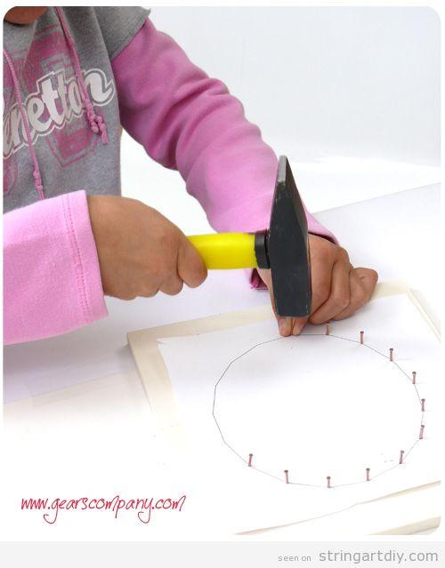 String Art for Kids Tutorial, step 2