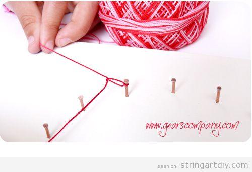String Art for Kids Tutorial, step 4