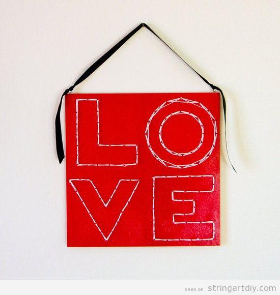 String Art DIY for Valentine's,