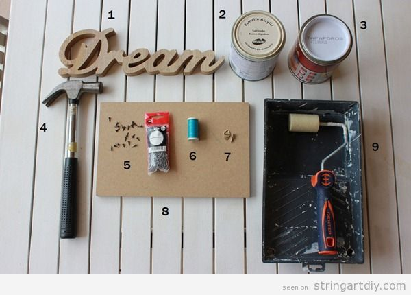 Dream String Art DIY Tutorial, step 1