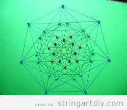 Geometrical polytope String Art