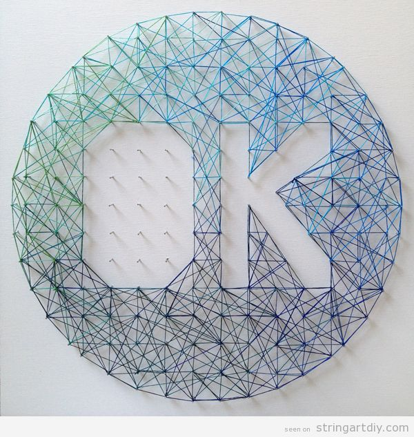 Tutorial, String Art word OK ombre