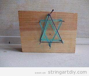 Star String Art easy ideas