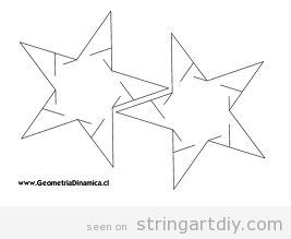 String Art stars, free pattern yto download