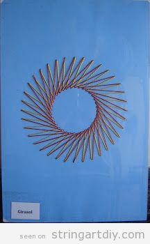 Easy Sun String Art DIY