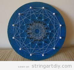 Polygon and stars String Art DIY