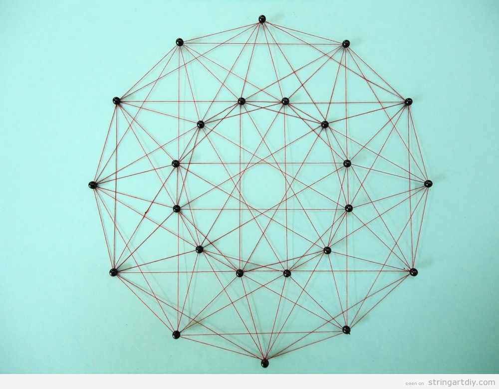 Geometrical String Art, ideas for math project
