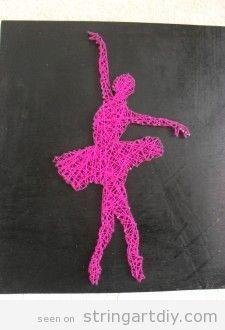 Ballet dancer , ballerina String Art DIY