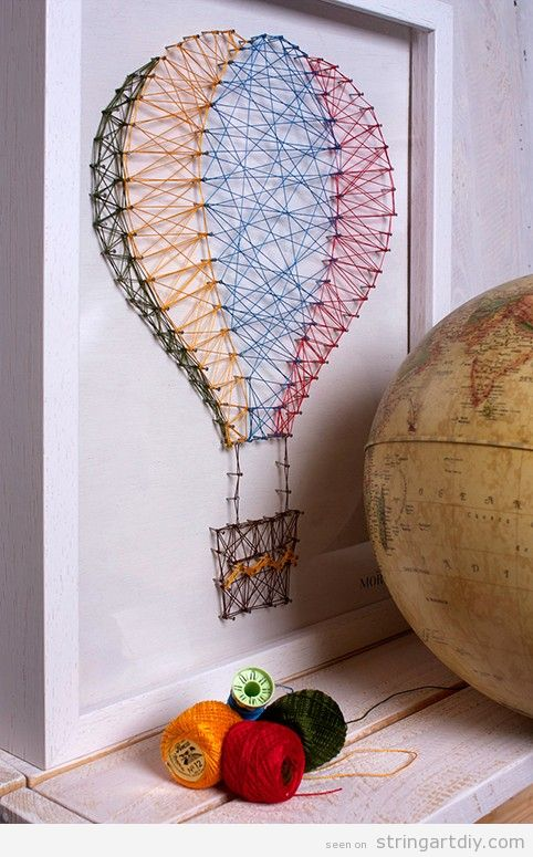 String Art balloon, nursey wall decoration ideas